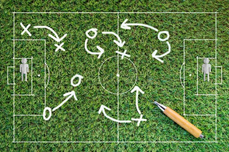 Fotbollstrategitecken royaltyfri fotografi