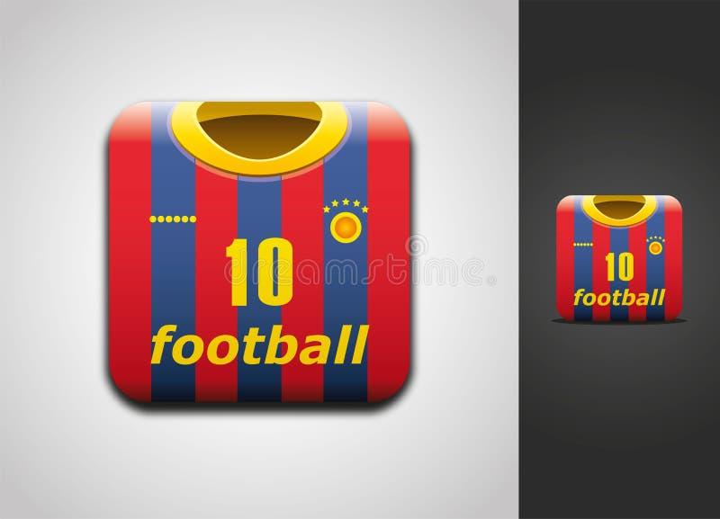 fotbollsymbol jersey vektor illustrationer