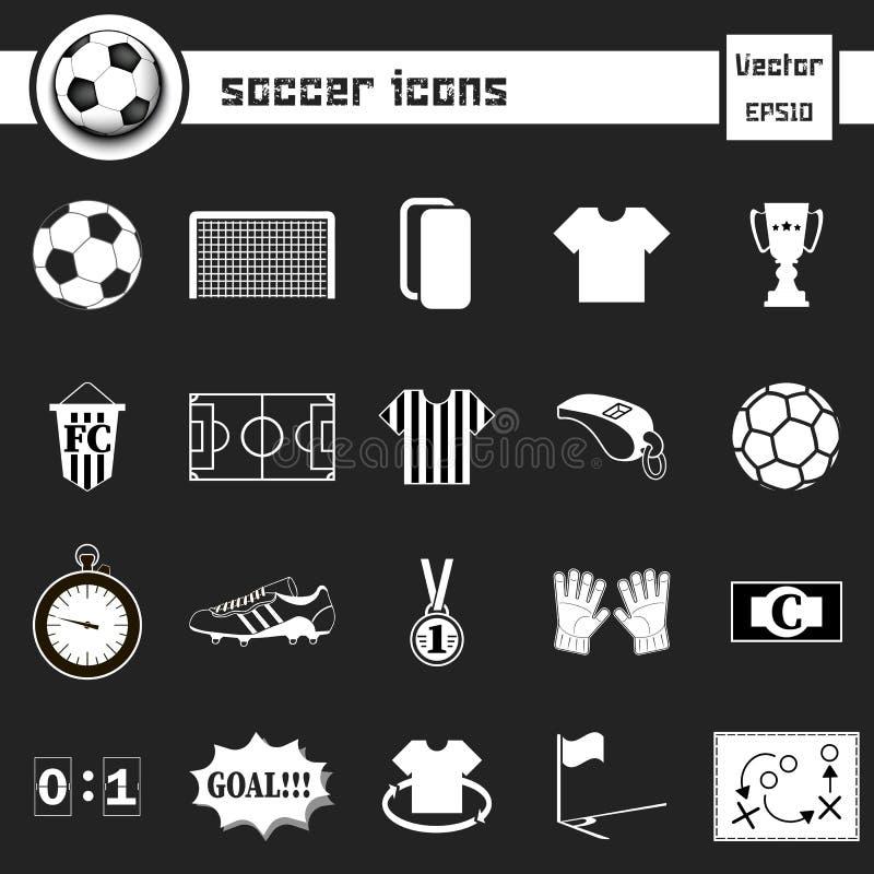 Fotbollsymboler 2 diagram inställda gråa symboler för fotboll vektor illustrationer