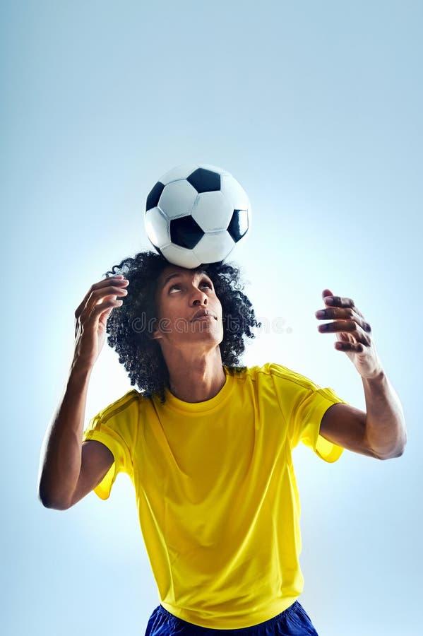 Fotbolltitelrad fotografering för bildbyråer