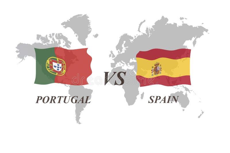 Fotbollturnering Ryssland 2018 Gruppera B Portugal vs Spanien royaltyfri illustrationer