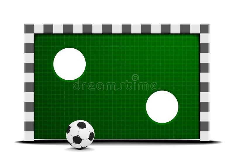 Fotbollutbildningsvägg royaltyfri illustrationer