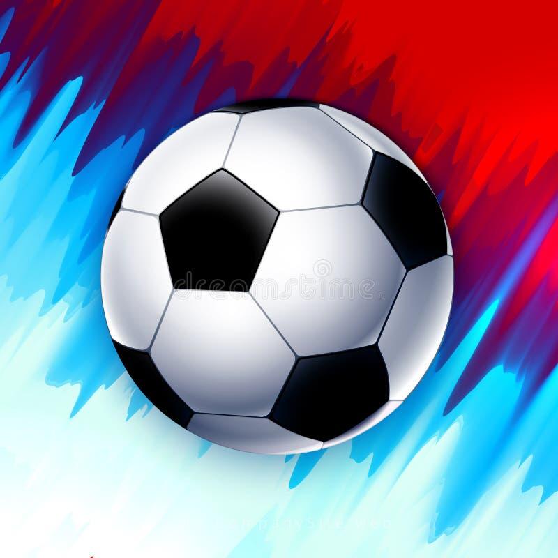 FotbollvärldscupRyssland tapet, färgmästerskapmodell med moderna och traditionella beståndsdelar, trend 2018 stock illustrationer
