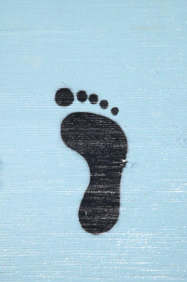 Foten skrivar ut att leda till någonstans okända, McCall Idaho royaltyfri fotografi