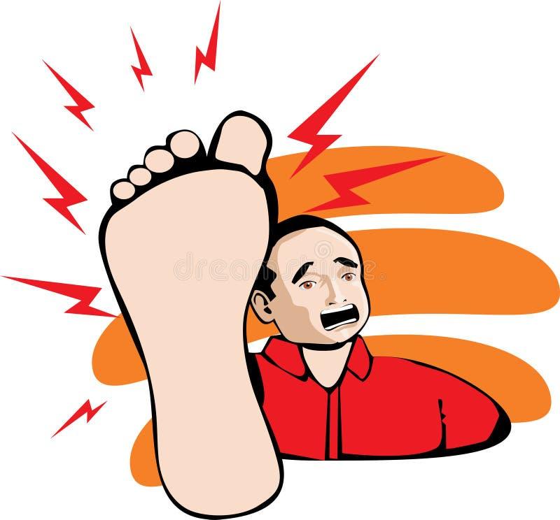 foten smärtar royaltyfri illustrationer