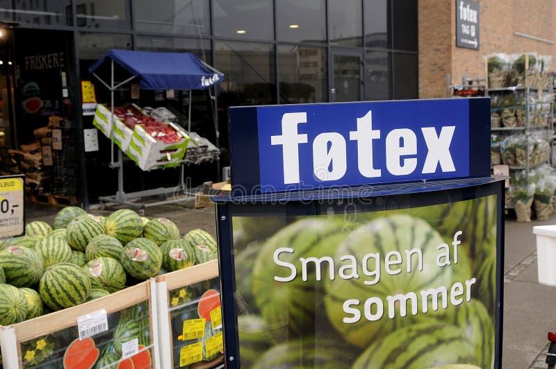 FOTEX FOOD MARKET. Copenhagen /Denmark - 21.jULY 2017. Fotex food chain market. Photo.Francis Joseph Dean/Deanpictures stock photography