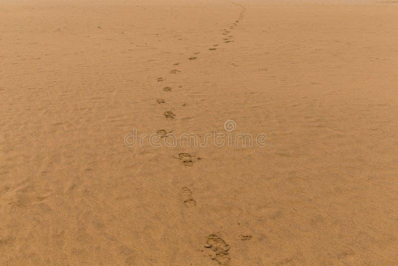 Fotmoment på sandstranden fotografering för bildbyråer
