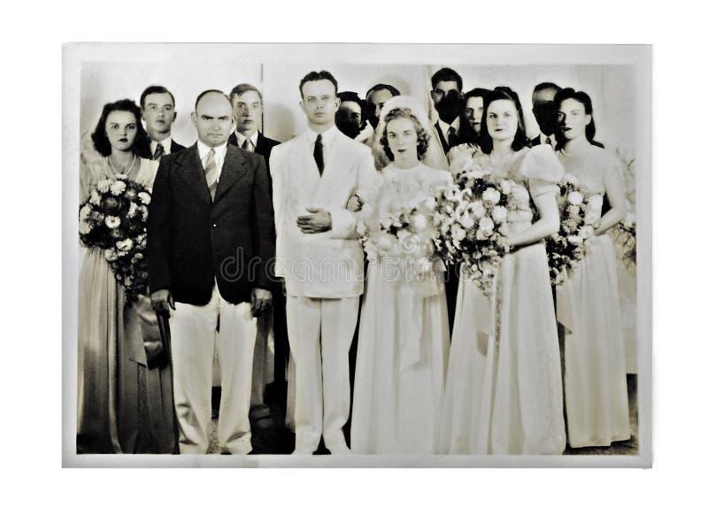 Foto 1940 do casamento foto de stock royalty free