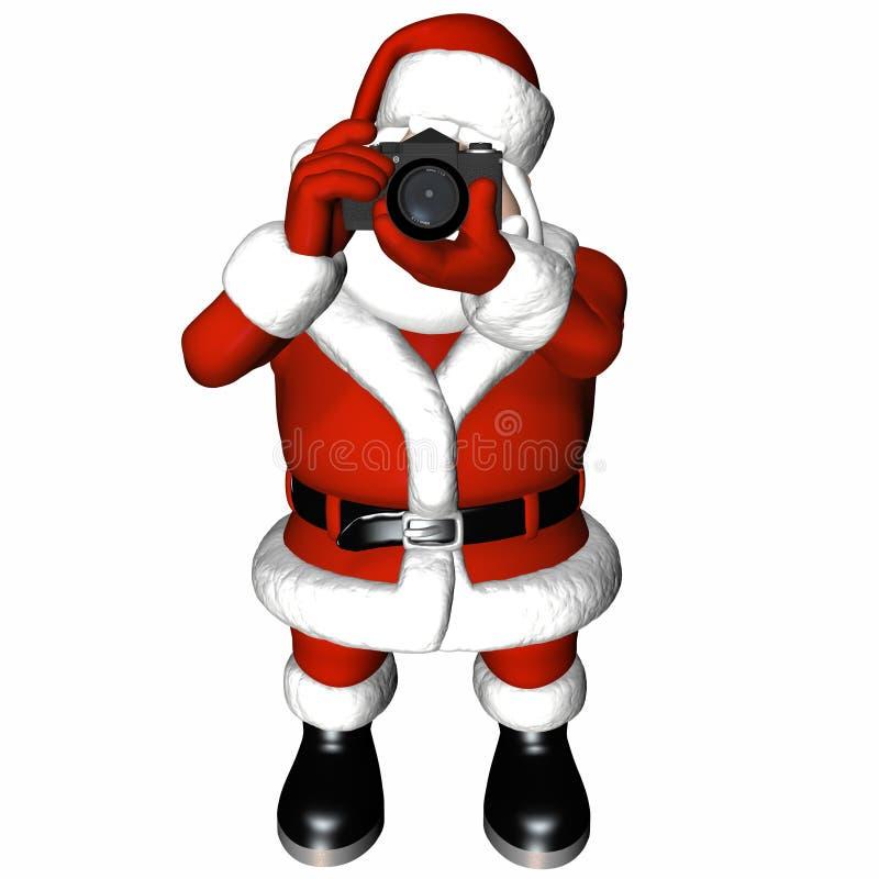 Foto 2 van de kerstman vector illustratie