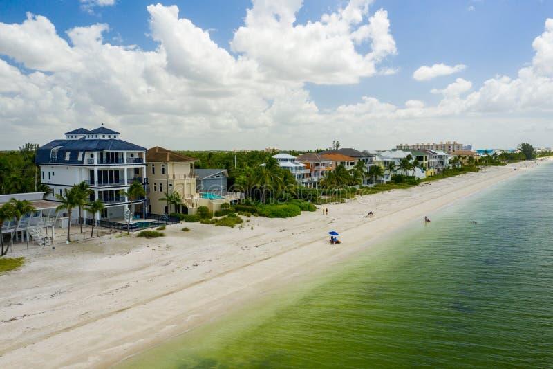 Foto aérea Barefoot Beach Florida EUA fotografia de stock royalty free