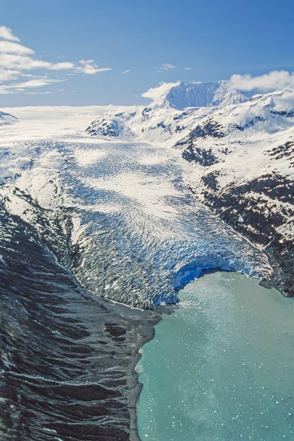 Foto aérea da baía de geleira de Alaska imagem de stock royalty free