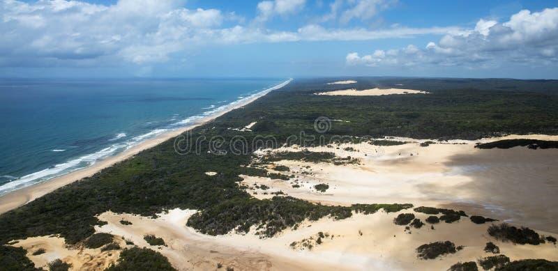 Foto aérea de Fraser Island imagenes de archivo