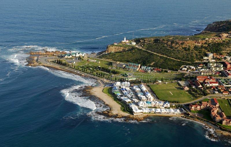 Foto aérea de la bahía de Mossel, Suráfrica fotografía de archivo libre de regalías