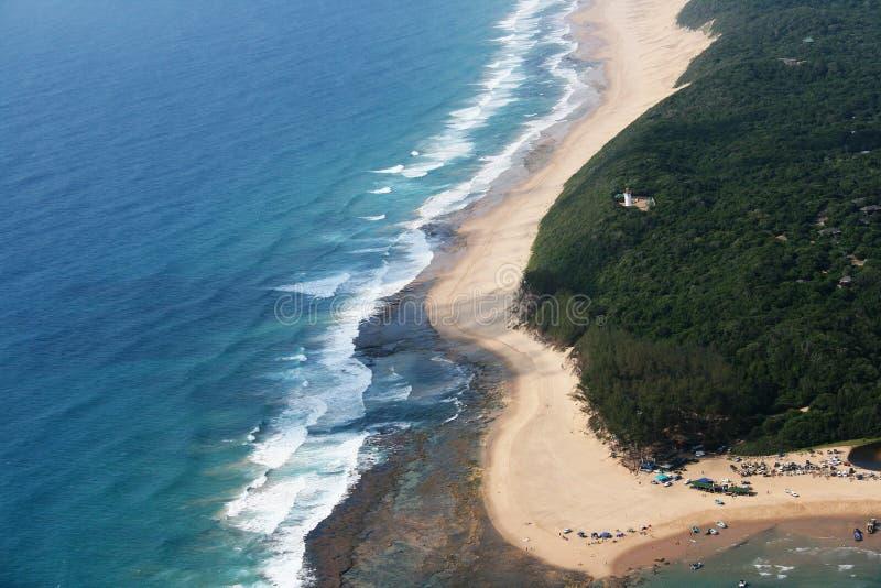 Foto aérea de la bahía de Sodwana imagen de archivo libre de regalías