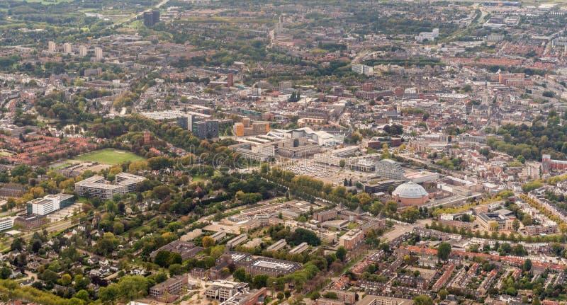 Foto aérea de la ciudad holandesa de Breda imagen de archivo libre de regalías