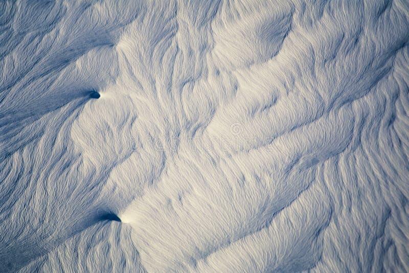 Foto aérea de testes padrões da neve de Alaska imagens de stock
