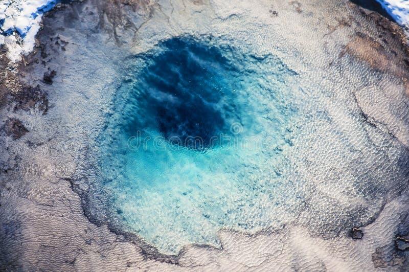 Foto aérea do parque de Yellowstone geotérmica fotografia de stock