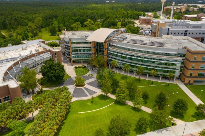 Foto aérea Harris Corporation Engineering Center UCF Orlando fotografia de stock