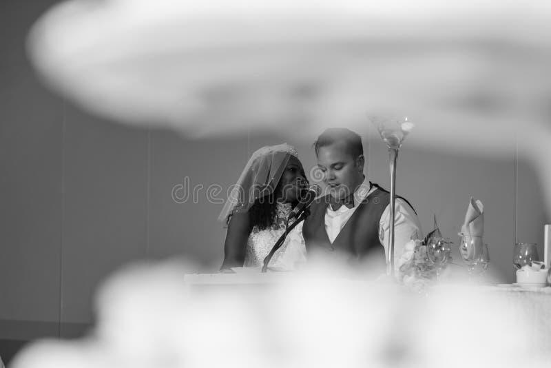 Foto abstracta de la novia y del novio imagen de archivo