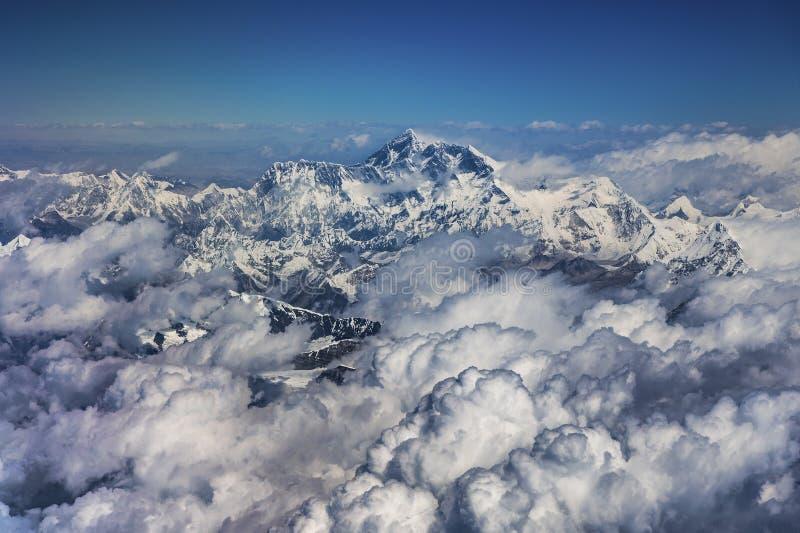 Foto aerea del ¼ Œ del ï dell'Everest dal sud immagini stock libere da diritti