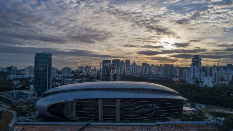 Foto aerea di MITEC, Malesia fotografia stock
