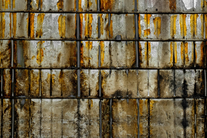 Foto aherrumbrada del primer de la textura del metal fotografía de archivo libre de regalías