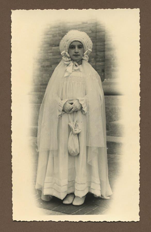 Foto antiga original - primeiro comunhão fotos de stock royalty free