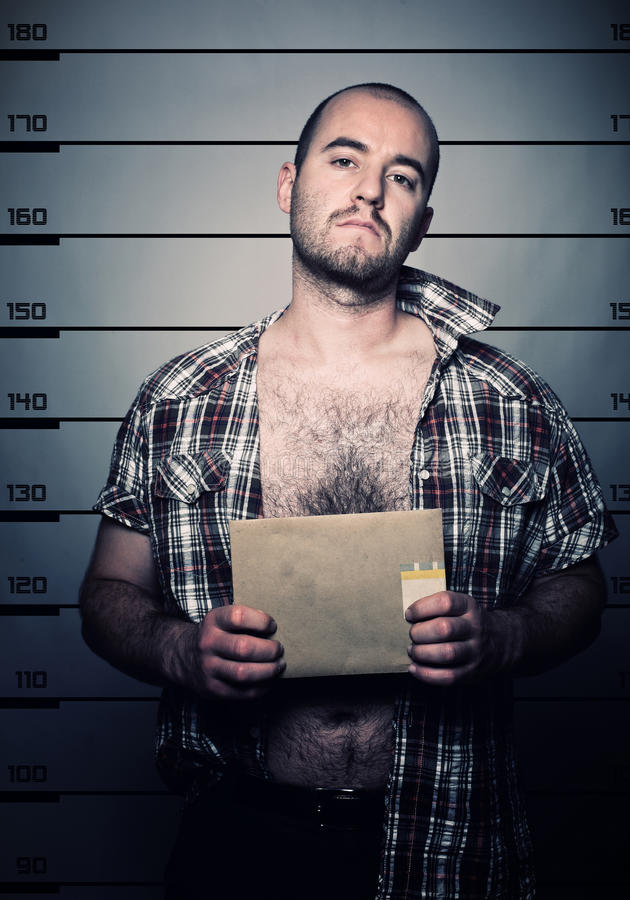 Foto arrestata uomo fotografia stock