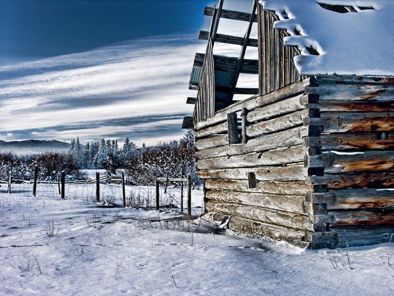 Foto-Arte del edificio agrícola del abandono foto de archivo libre de regalías