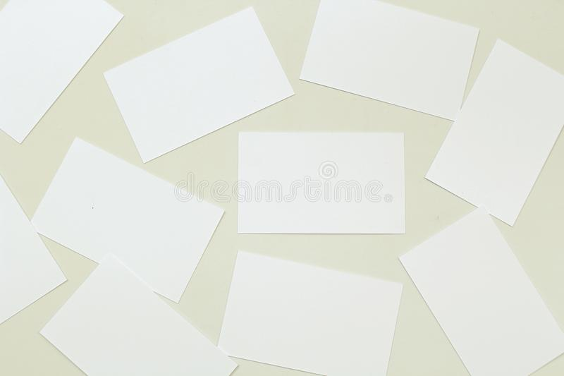Foto av bunten för affärskort arkivbilder
