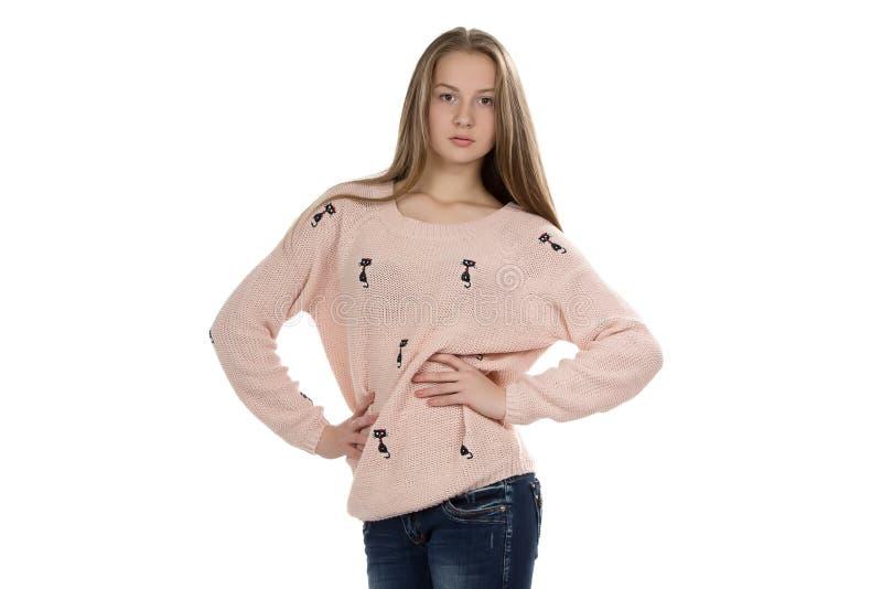 Foto av den gulliga tonårs- flickan arkivfoton