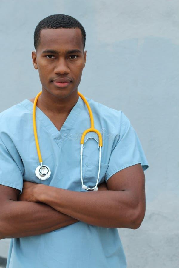 Foto av en afrikansk amerikansjukskötare royaltyfri bild