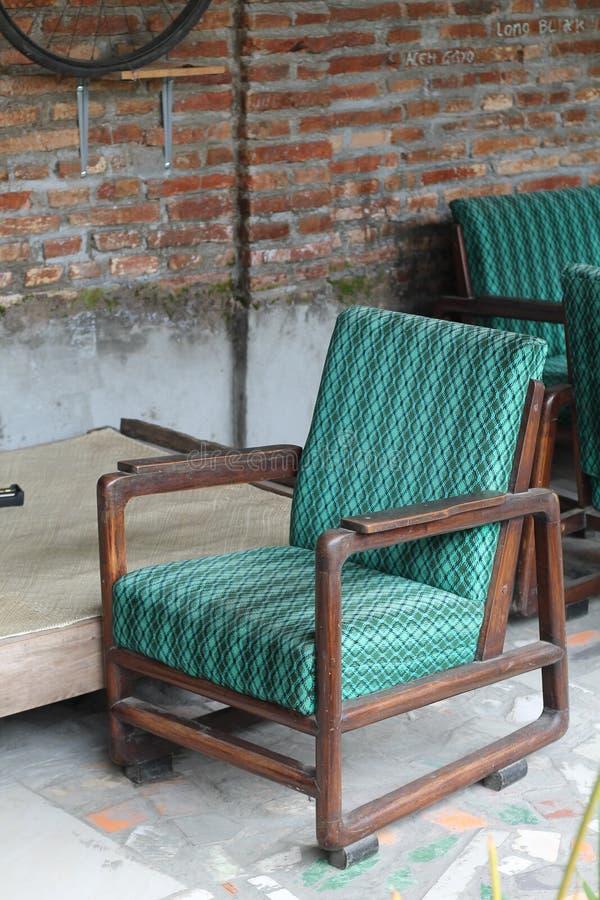 Foto av en stol i rummet, version 3 arkivfoto