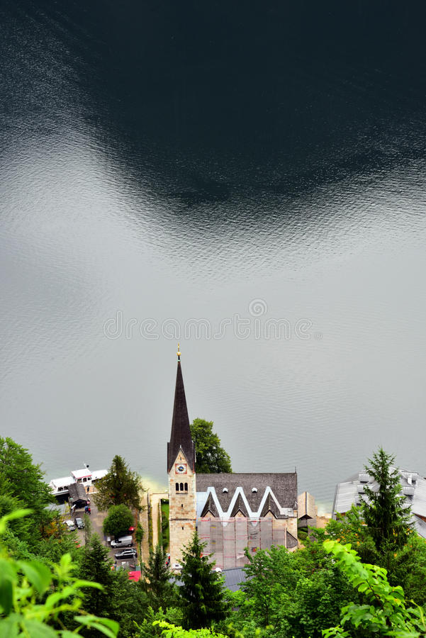 Foto av Lutherankyrkan i Hallstatts fotografering för bildbyråer
