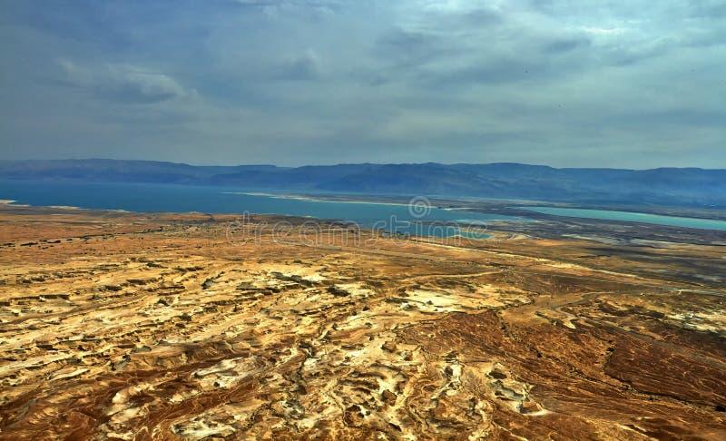 Foto av sikten av det döda havet royaltyfri foto