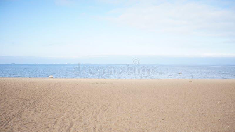 Foto av stranden på det baltiska havet arkivfoton
