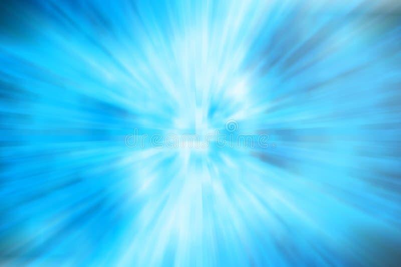 Foto azul abstracta de la acción del ejemplo del fondo de la falta de definición, concepto de la galaxia stock de ilustración