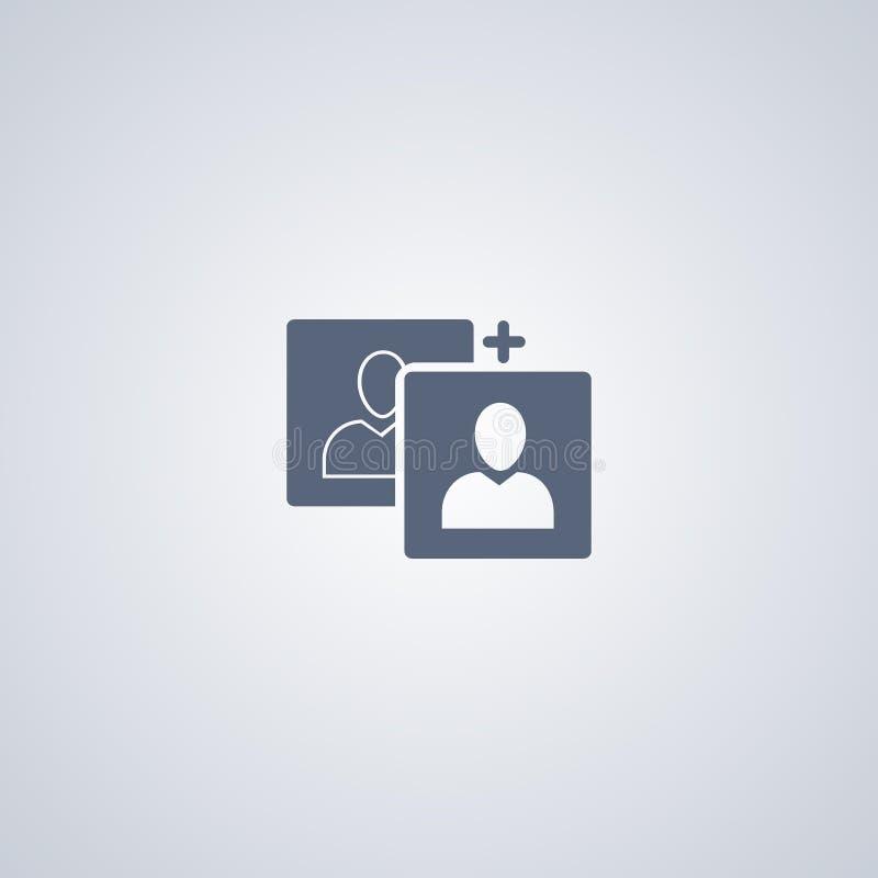 Foto, beeld, vector beste vlak pictogram vector illustratie