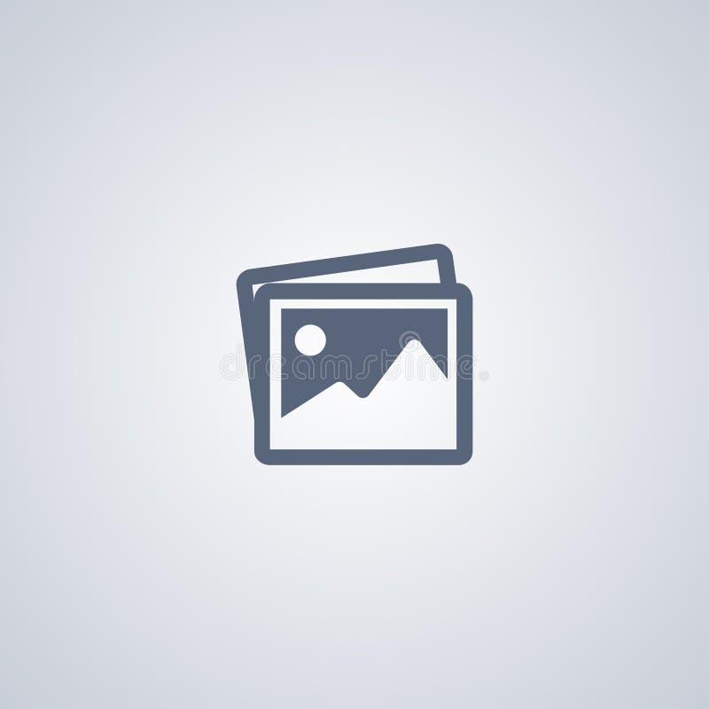 Foto, beeld, vector beste vlak pictogram stock illustratie