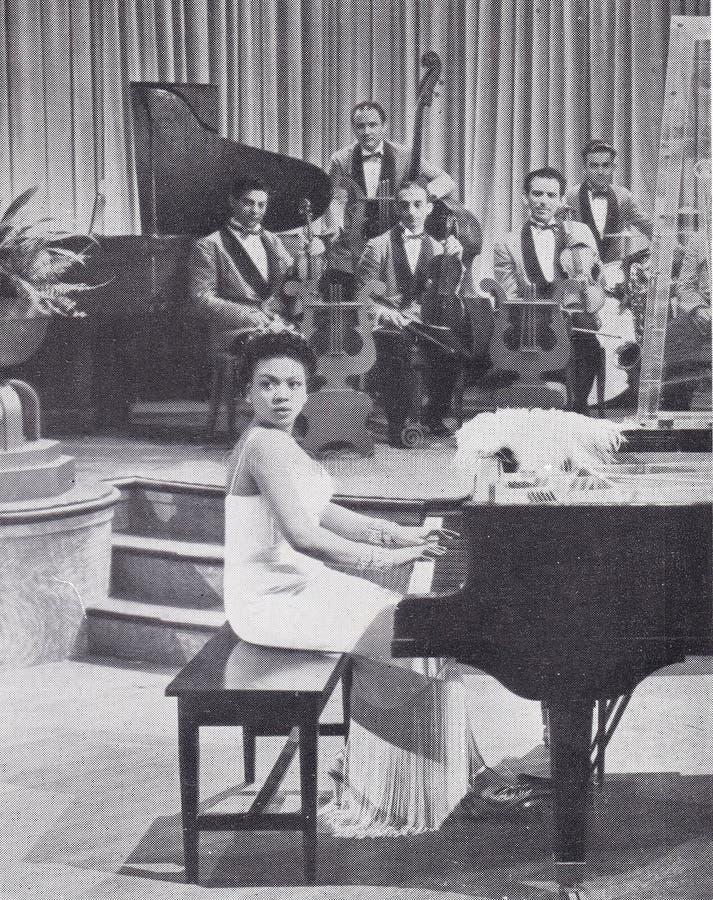 Foto in bianco e nero di `Night Club Jazz` fotografia stock