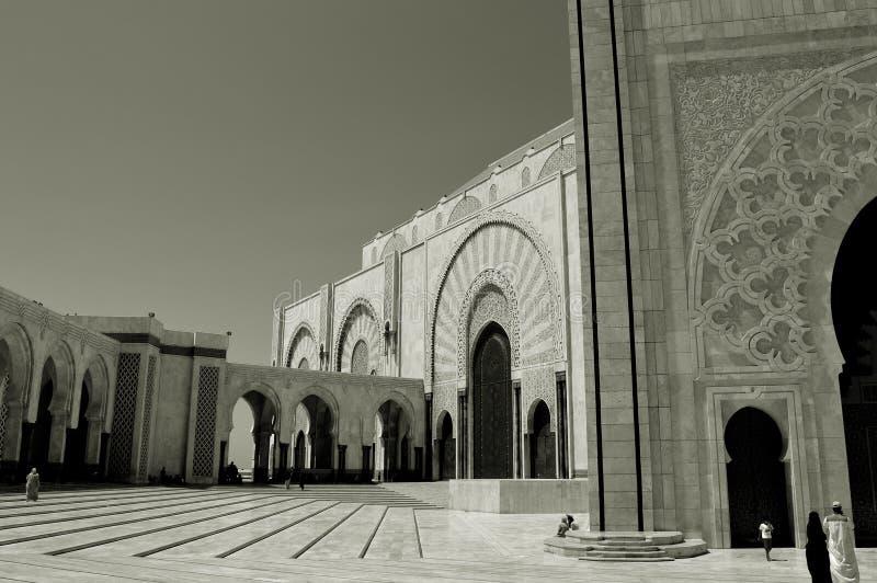 Foto in bianco e nero di Pechino, Cina Edificio del Marocco, architettura del Marocco, modelli ed ornamenti immagine stock