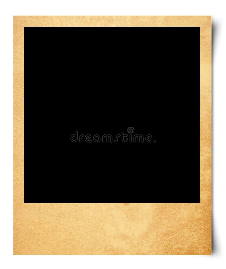 Foto in bianco su vecchio documento illustrazione di stock