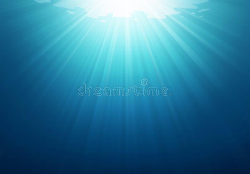 Foto blu subacquea del fondo del mare illustrazione di stock