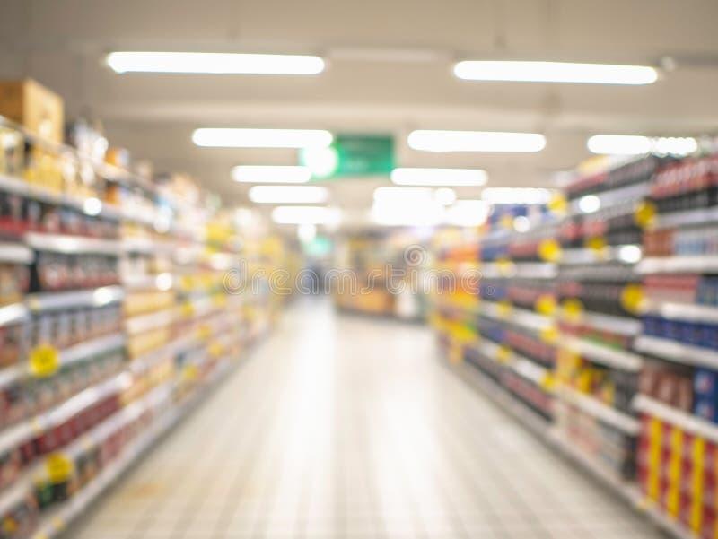 Foto borrada abstrata do supermercado sem povos foto de stock