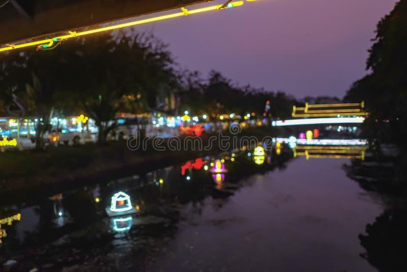 Foto borrada sumário da luz bonita da cidade foto de stock royalty free