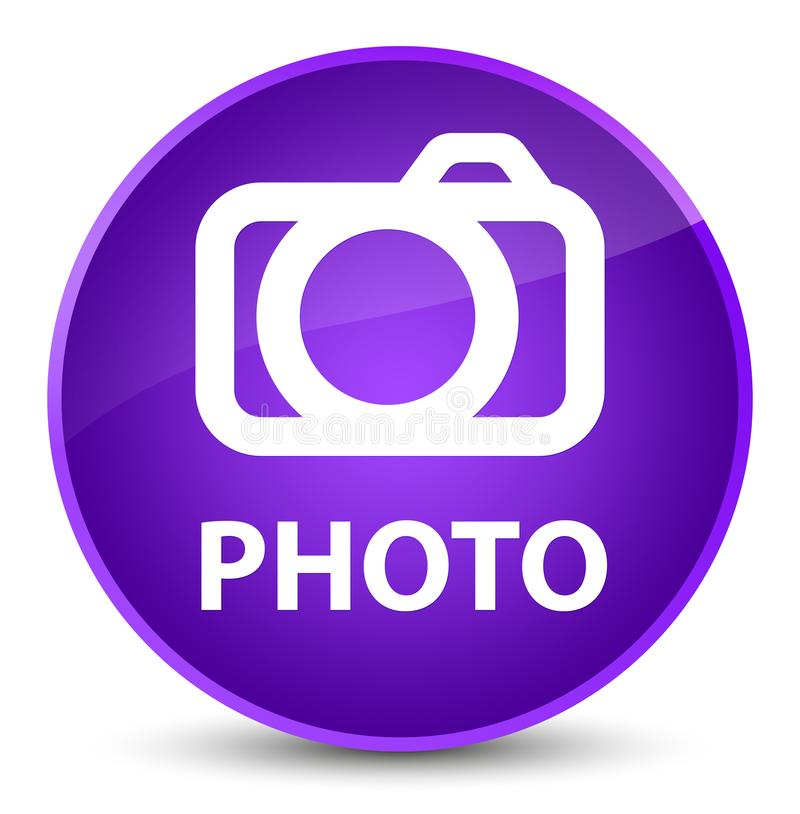 Foto (camerapictogram) elegante purpere ronde knoop vector illustratie