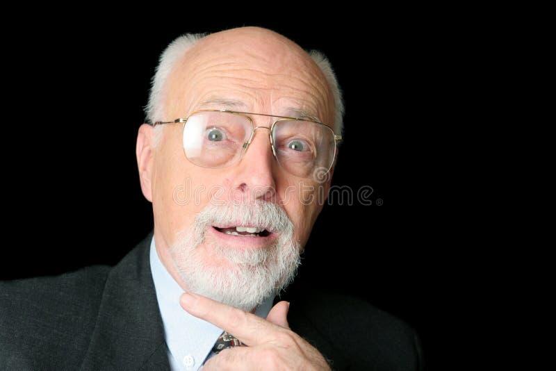 Foto común del hombre mayor sorprendido imagenes de archivo