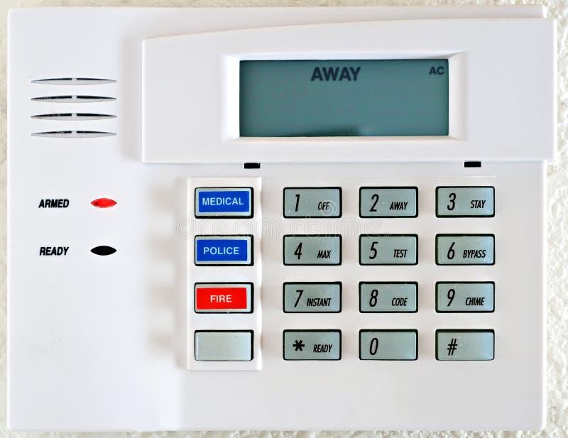 Foto común: Telclado numérico residencial del sistema de alarma foto de archivo libre de regalías