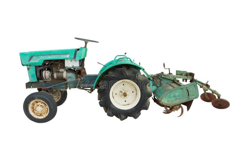 Foto común: vista llana superficial de un aislador azul nostálgico del tractor fotos de archivo libres de regalías