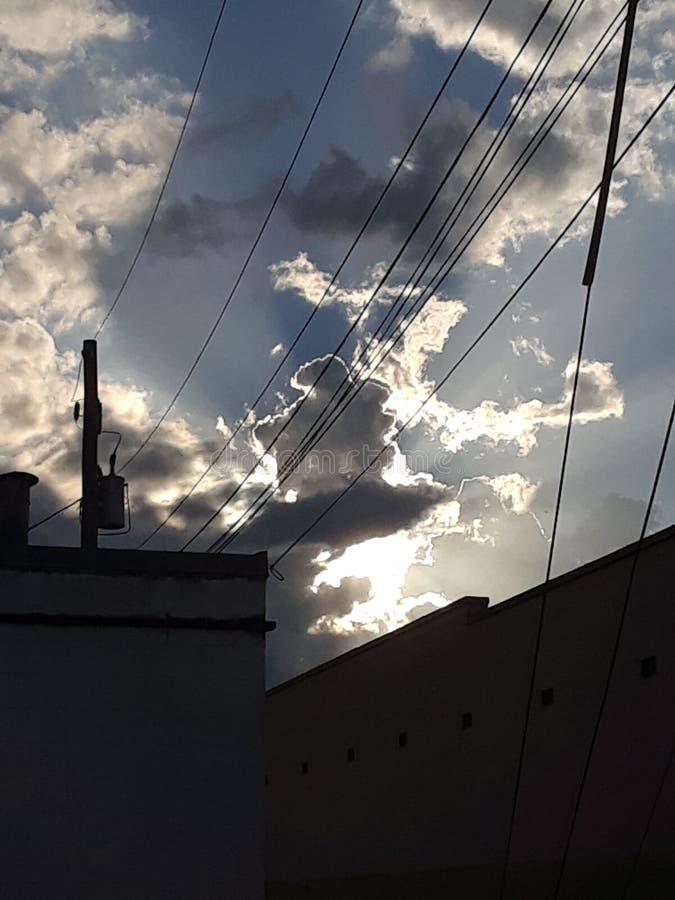 Foto commovente di stupore nuvole agosto 2018 Augusta Georgia fotografia stock